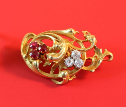 floral neo renaissance brooch