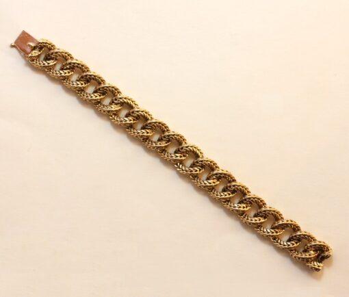 gold rope link bracelet