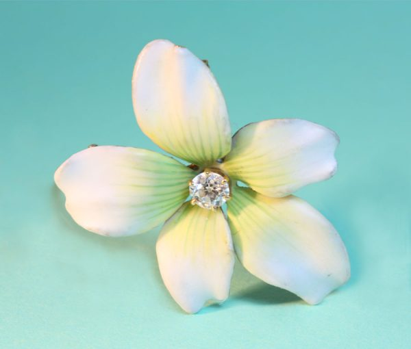 Art Nouveau flower brooch