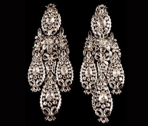 diamond girandole earrings