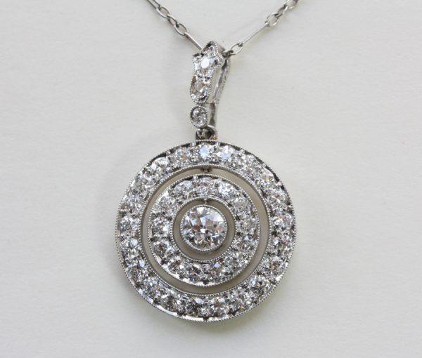 diamond target pendant