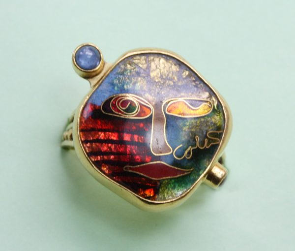 colored enamel ring
