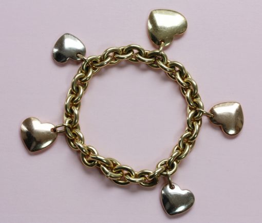 yellow heart charm bracelet