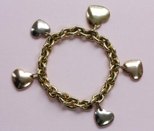 yellow heart charm bracelet