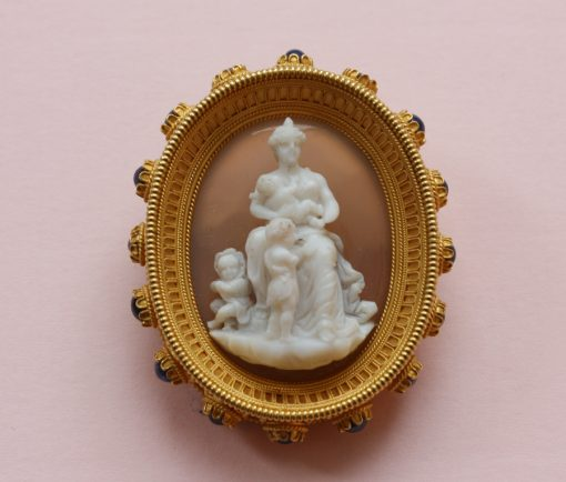 Charity cameo brooch
