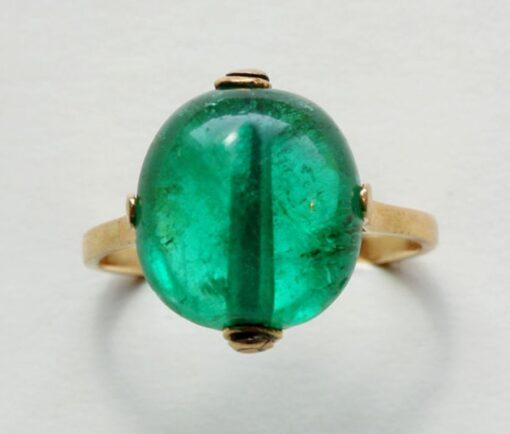 Moghul emerald bead ring