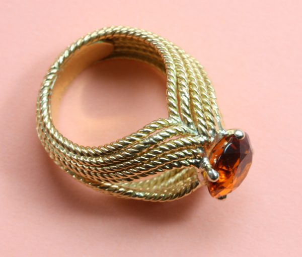 gold hessonite ring