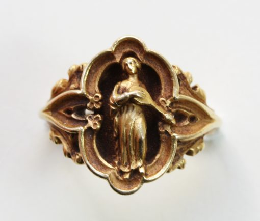 neo-gothic gold ring