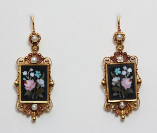 pietra dura earrings