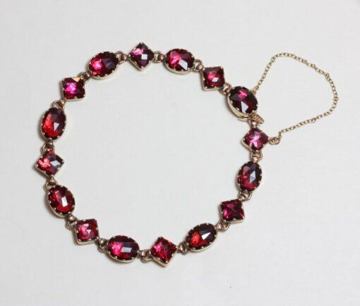gold and garnet bracelet