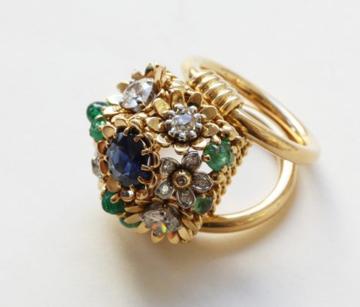 flower basket ring