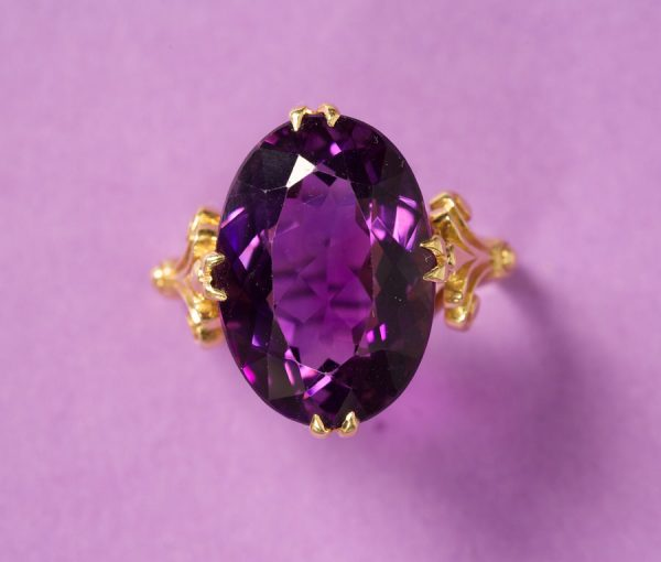 ring with Russian amethyst