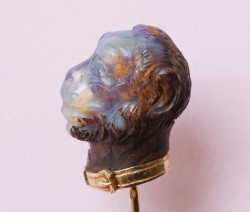 opal mokey stickpin
