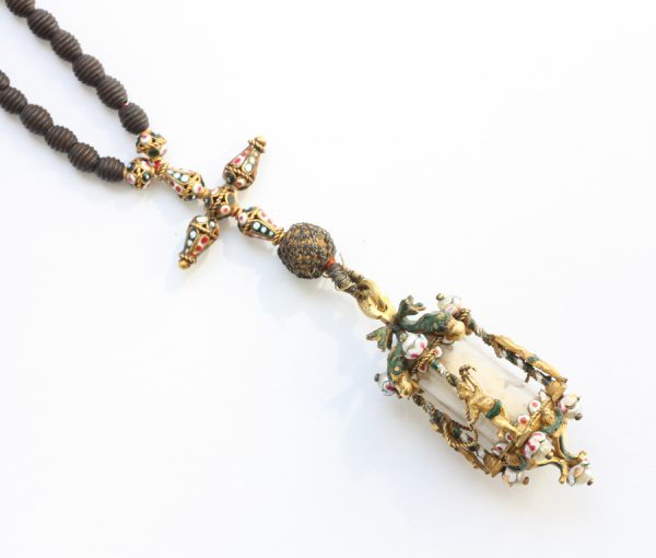 gold and enamel rosary and madonna
