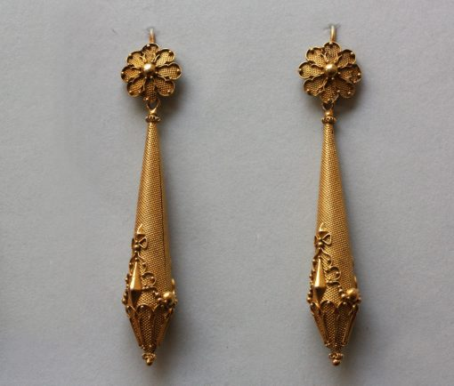 gouden regency oorbellen