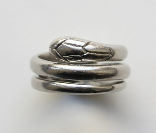 platinum snake ring