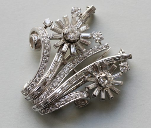 Diamond Flower Double Clip
