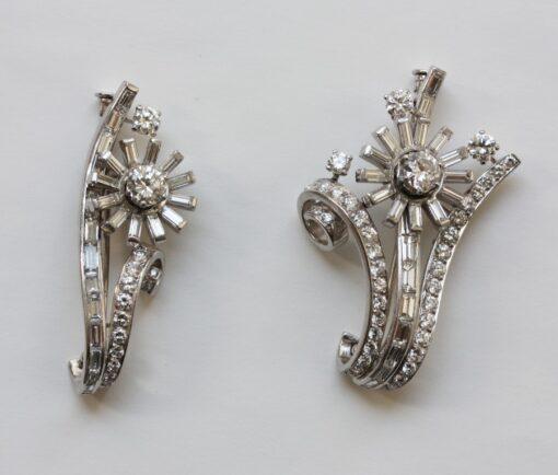 Diamond Flower Double Clip