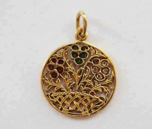 gold flower charm