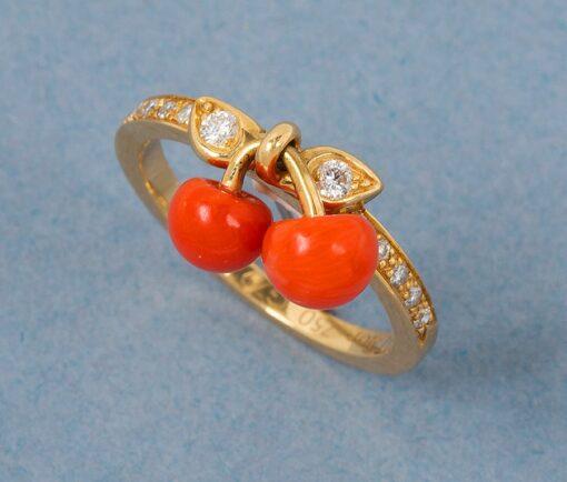 Cerise Dior ring