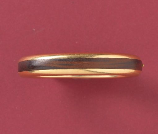 wooden and gold bangle