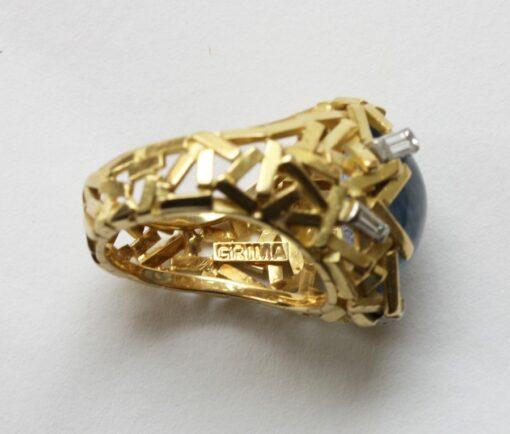 sapphire grima ring