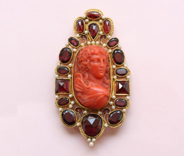 coral cameo of psyche