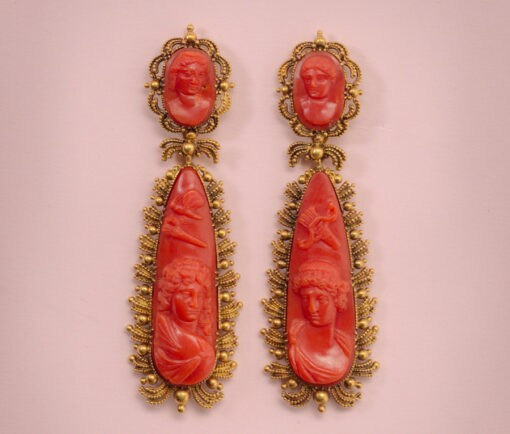 coral_amorandPsyche_earrings