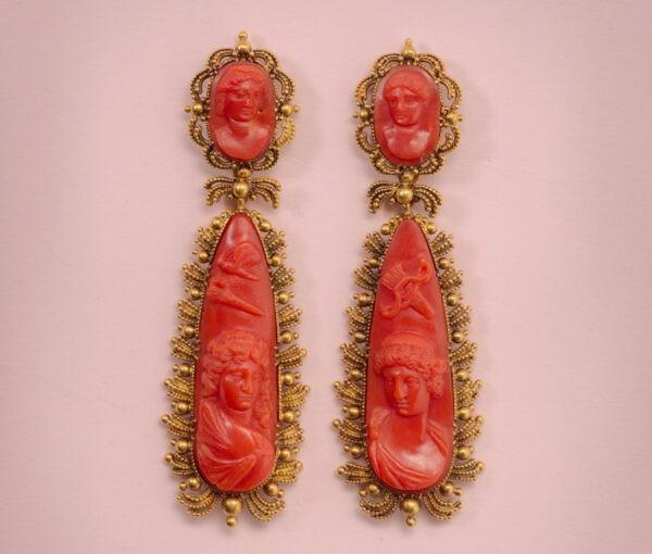 coral_amorandPsyche_earrings