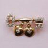 key to my heart brooch
