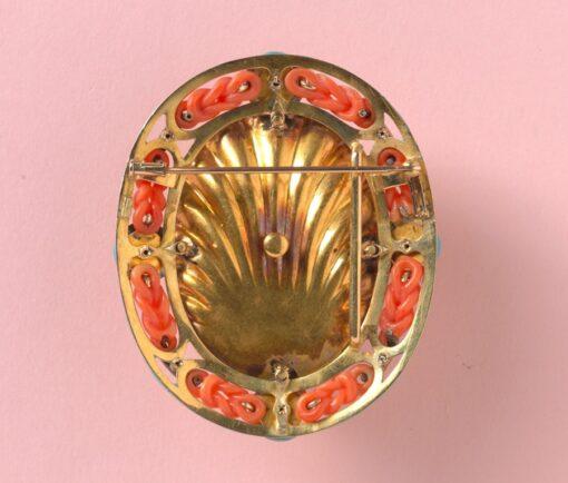 bacchante camee brooch