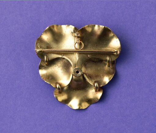 pansy brooch