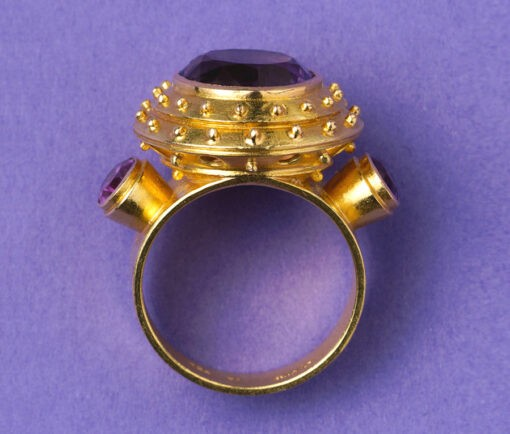 gold and amethyst Jacob de Groes ring