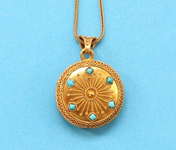 turquoise locket