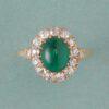 smaragd en diamant ring