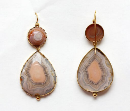 gold and agate earrings