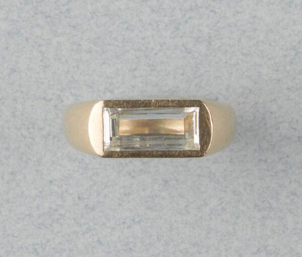 table cut diamond ring