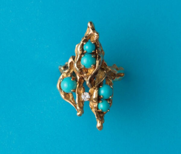 gold and turquoise chaumet ring