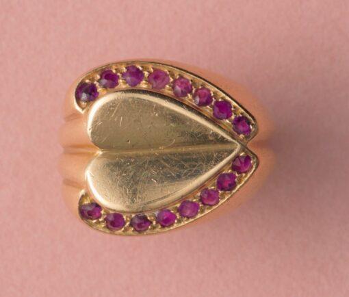 Raymond Templier heart Ring