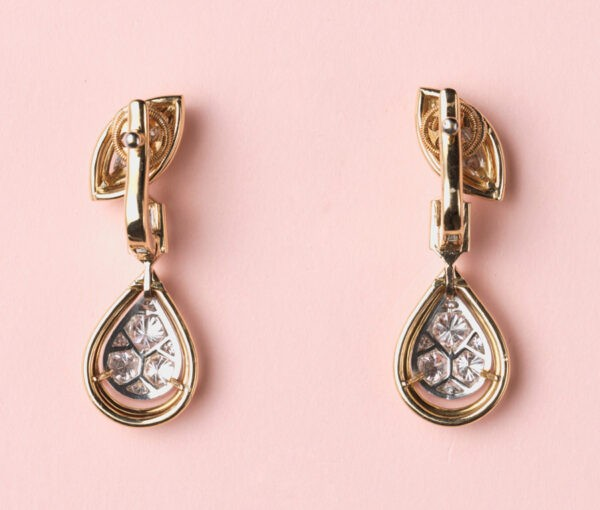 diamond and gold cartier earrings