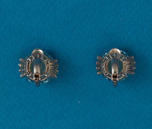 aquamarine earclips