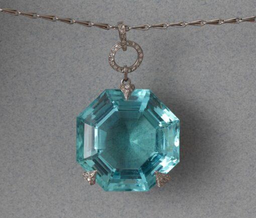 Georges Fouquet Aquamarine Pendant