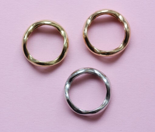 three gold bands