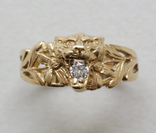 art nouveau Lion_ring