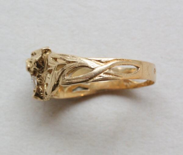 art nouveau Lion_ring
