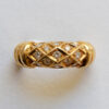 gold and diamond cartier ring