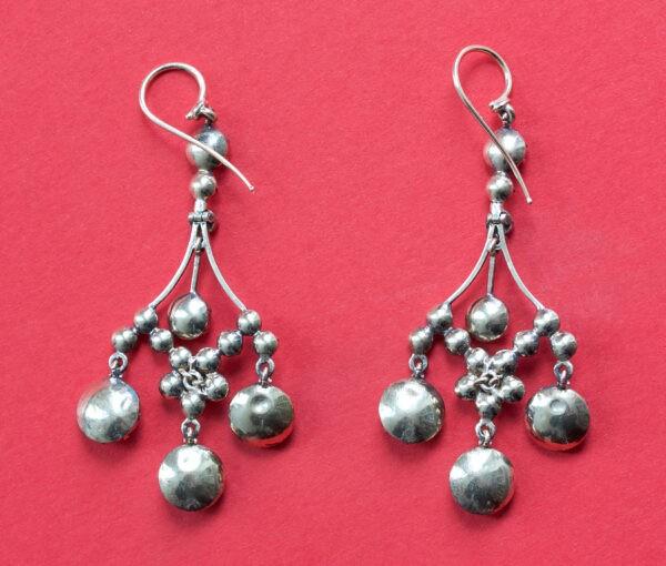 garnet girandole earrings