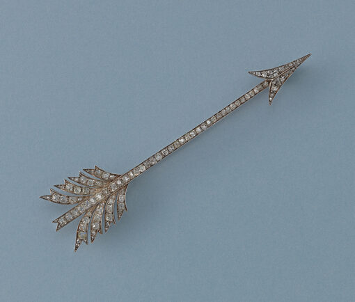 diamond arrow brooch