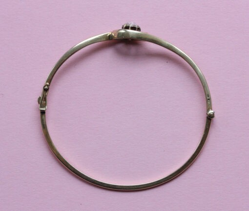 rose cut diamond bangle
