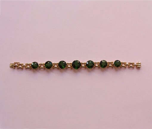 gold and tourmaline bracelet